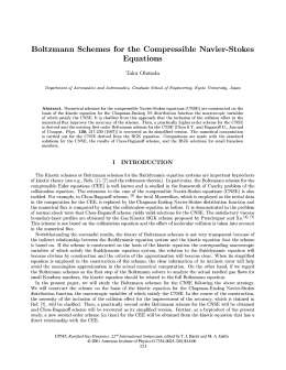 Boltzmann Schemes for the Compressible Navier-Stokes Equations Taku Ohwada