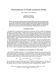 Thermophoresis of Axially Symmetric Bodies Karl I. Borg, Lars H. Soderholm