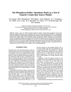 The Phosphorus/Sulfur Abundance Ratio as a Test of