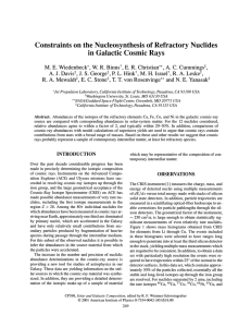 Constraints on the Nucleosynthesis of Refractory Nuclides in Galactic Cosmic Rays