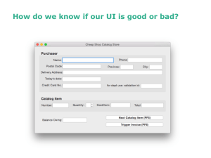 How do we know if our UI is good or...