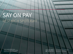 SAY ON PAY RESEARCH SPOTLIGHT