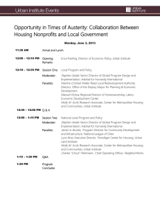 Opportunity in Times of Austerity: Collaboration Between