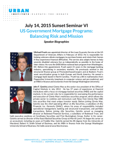 July 14, 2015 Sunset Seminar VI US Government Mortgage Programs: