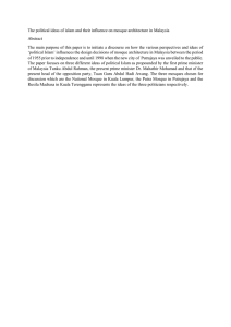 The political ideas of islam and their influence on mosque... Abstract The main purpose of this paper is to initiate a...