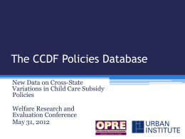 The CCDF Policies Database