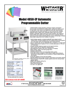 W R Model 4850-EP Automatic Programmable Cutter