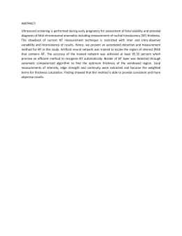 ABSTRACT: Ultrasound screening is performed during early pregnancy for assessment of...