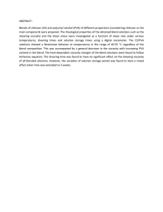 ABSTRACT: Blends of chitosan (CS) and polyvinyl alcohol (PVA) of different...