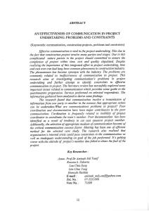 Pengawalan Kos Projek Pembinaan Oleh Kontraktor Mohamad Sofiuddin Bin Abdul Rahman