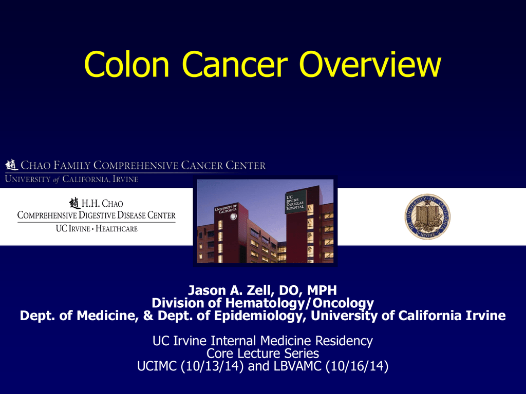 Colon Cancer Overview