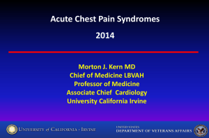 Acute Chest Pain Syndromes 2014