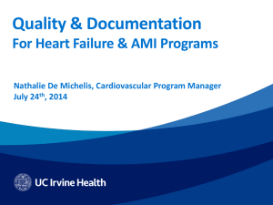 Quality & Documentation For Heart Failure & AMI Programs July 24