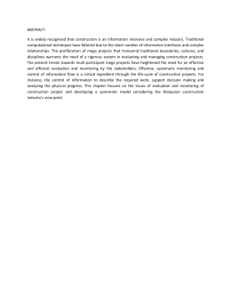 ABSTRACT: It  is  widely  recognised that  construction ...