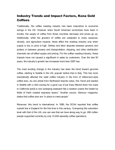 Industry Trends and Impact Factors, Kona Gold Coffees
