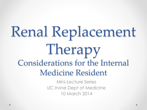 Renal Replacement Therapy Considerations for the Internal Medicine Resident