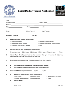 Social Media Training Application Application
