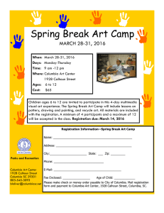 Spring Break Art Camp MARCH 28-31, 2016