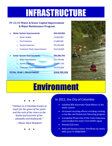 INFRASTRUCTURE FY 12/13 Water & Sewer Capital Improvement & Major Maintenance Program
