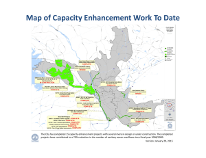 Map of Capacity Enhancement Work To Date