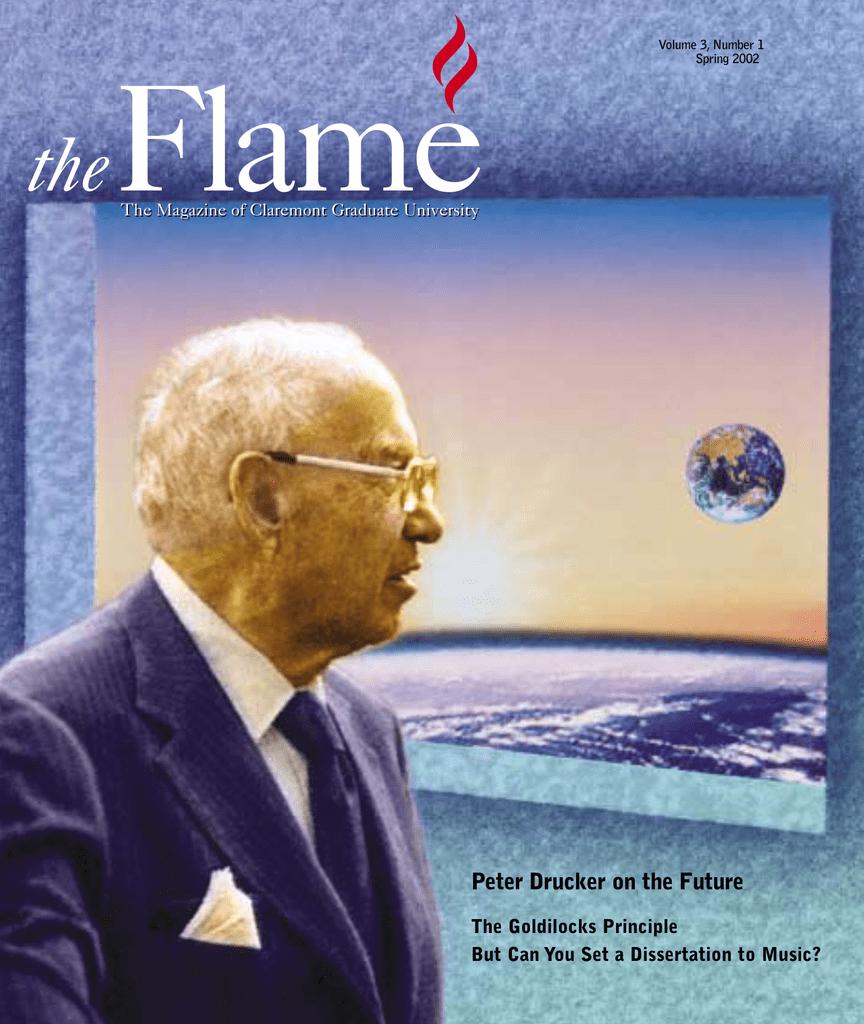 The Goldilocks Principle Meeting Needs >> Flame The Peter Drucker On The Future The Goldilocks Principle