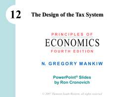 12 ECONOMICS The Design of the Tax System