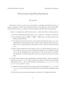 Microeconomics Qualifying Examination May 29, 2013