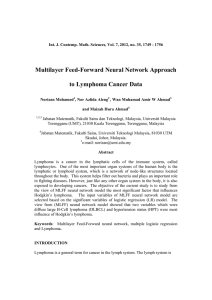 Multilayer Feed-Forward Neural Network Approach  to Lymphoma Cancer Data