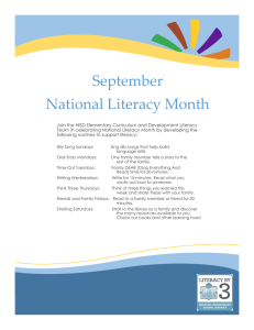 September National Literacy Month
