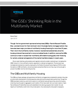 The GSEs' Shrinking Role in the Multifamily Market  April 2015