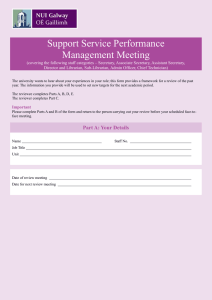Support Service Performance Management Meeting