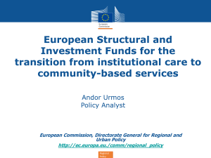 European Commission, Directorate General for Regional and Urban Policy  Regional