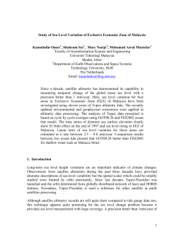 Study of Sea Level Variation of Exclusive Economic Zone of... Kamaludin Omar , Shahrum Ses