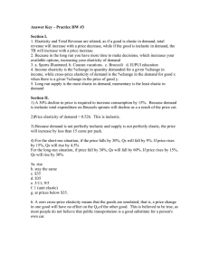 Answer Key – Practice HW #3  Section I.