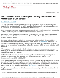 Bar Association Moves to Strengthen Diversity Requirements for