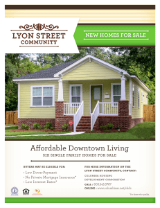 Affordable Downtown Living  NEW HOMES FOR SALE