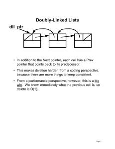 Doubly-Linked Lists dll_ptr