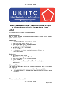 United Kingdom Pentameter 2 Statistics of Victims recovered