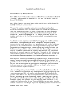 Literature Review by Monique Moultrie Feminist Sexual Ethics Project