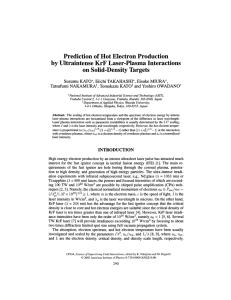Prediction of Hot Electron Production by Ultraintense KrF Laser-Plasma Interactions