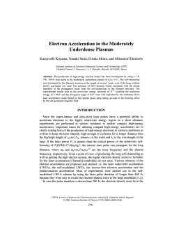 Electron Acceleration in the Moderately Underdense Plasmas