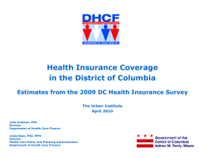 Health Insurance Coverage in the District of Columbia The Urban Institute