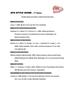 APA STYLE GUIDE –