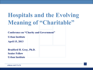 "Hospitals and the Evolving Meaning of ""Charitable"""