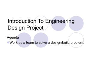 Introduction To Engineering Design Project Agenda