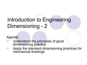 Introduction to Engineering Dimensioning - 2