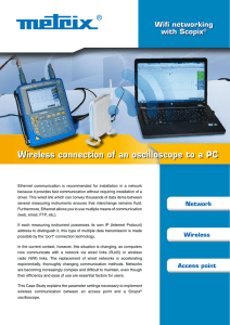 Wireless connection of an oscilloscope to a PC Wifi networking with Scopix
