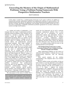 Unraveling the Mystery of the Origin of Mathematical Prospective Mathematics Teachers