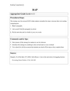 Appropriate Grade Level: Procedures/Steps: