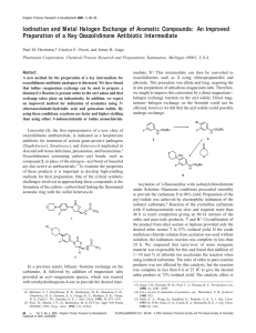 Iodination and Metal Halogen Exchange of Aromatic Compounds: An Improved